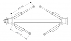 TST40G – Clear floor 2 post lift 4 Ton