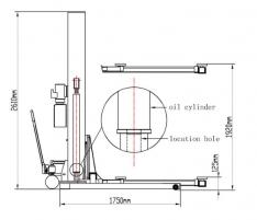 TST25SP – 1 POST LIFT 2.5 T MOBILE LIFT